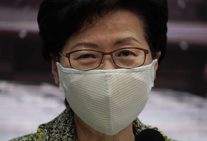 The US has imposed sanctions on Carrie Lam