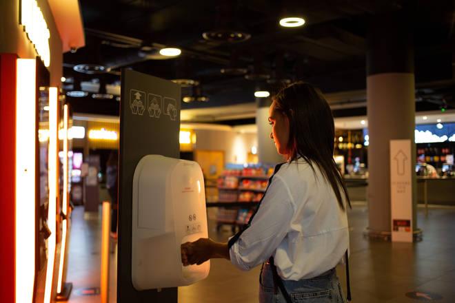 Many businesses have installed hand sanitiser to fight coronavirus