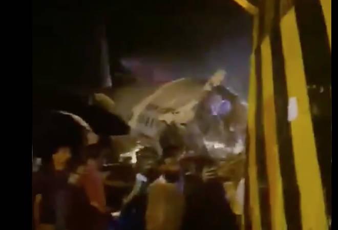 The plane crash-landed