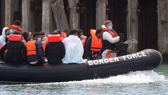 235 migrants were stopped by the border force in the Channel on Thursday (6th August)