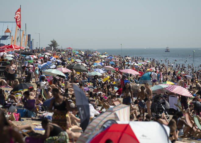 Southend beach attracted sunseekers as Friday saw record temperatures