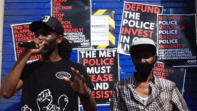 Rapper Wretch 32 (left) and his father Millard Scott, 62, (right) who was Tasered by police
