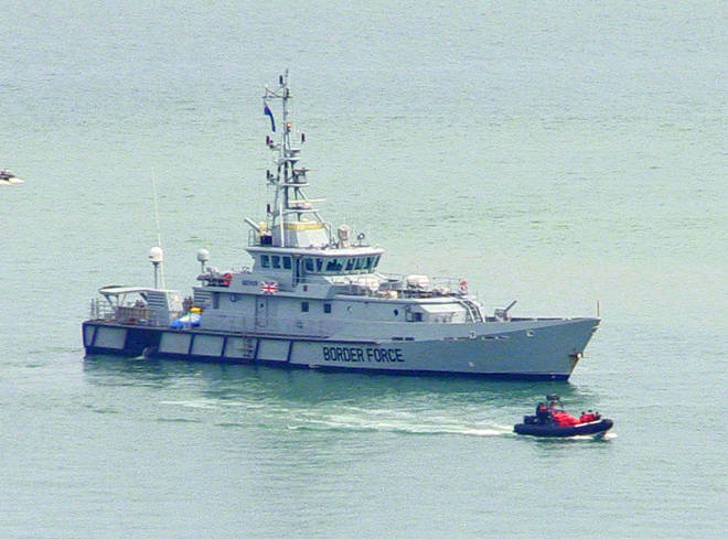 UK Border Force has been left with few options but to escort the boats to Britain