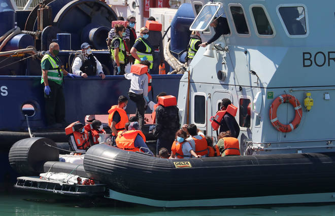 Rear Admiral Parry said the Royal Navy can secure the UK's maritime border amid the migrant crisis