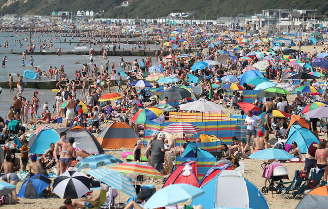 Bournemouth beach is packed again today
