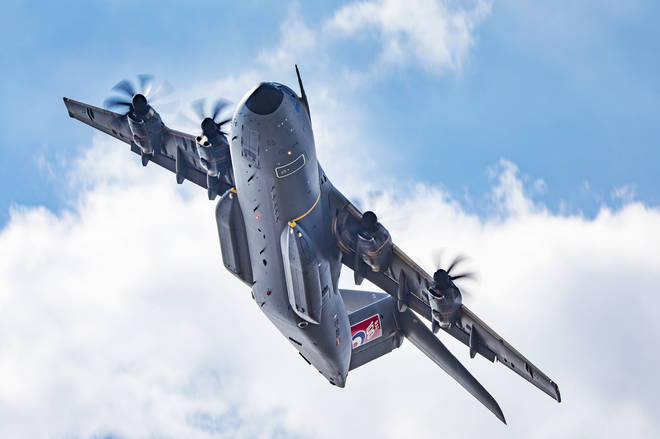 An RAF A400M Atlas Aircraft has been deployed to assist the Border Force