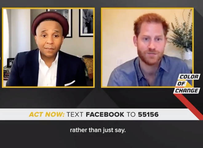 Prince Harry spoke with the civil rights organisation Color of Change