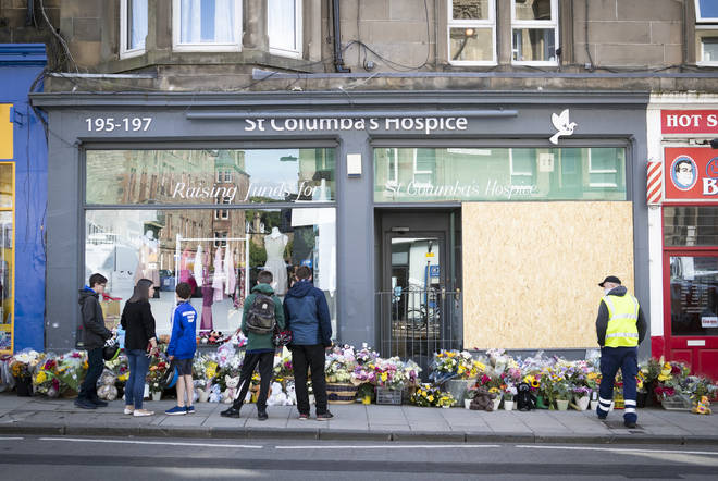 Floral tributes were left at the scene of the incident