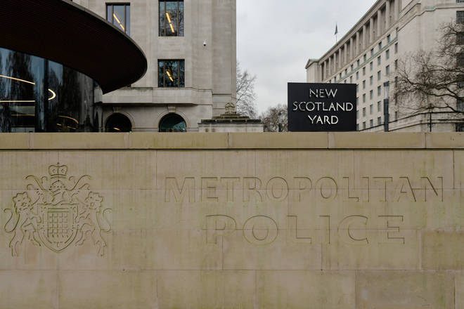A suspended Metropolitan Police officer is under investigation for allegedly kneeling on a man's neck