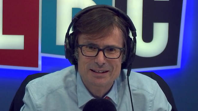 Robert Peston was involved in a row with this caller over the EU's role in peace