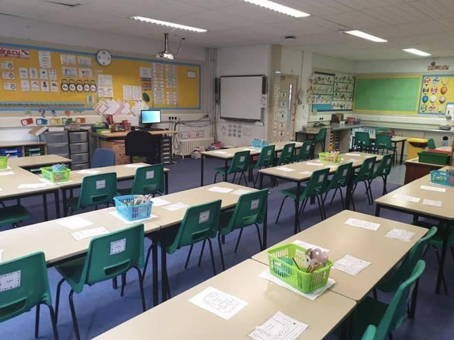 A classroom in Burnfoot Community School in Hawick in the Scottish Borders