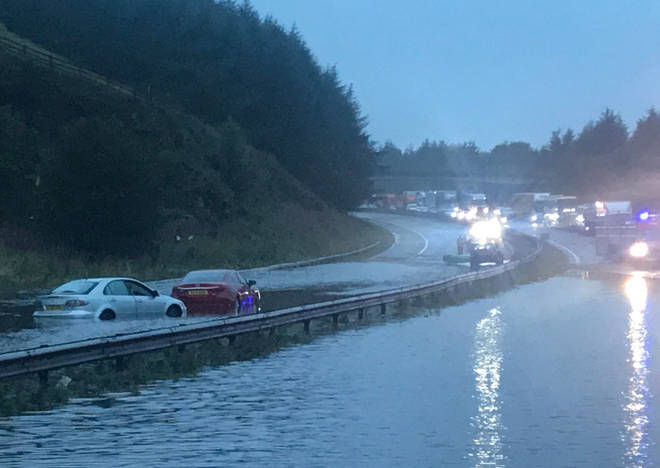 Thunderstorms have cause flooding across much of Scotland