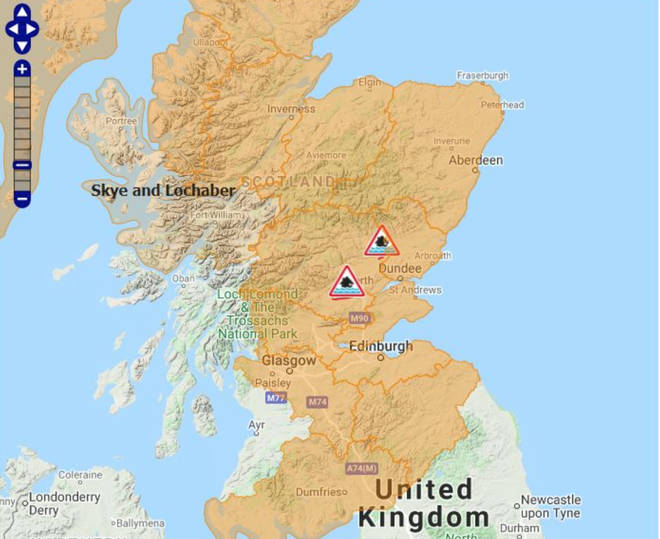 Almost all of Scotland is currently covered by flood warnings