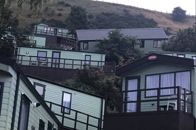 Several holiday homes fell in the landslide