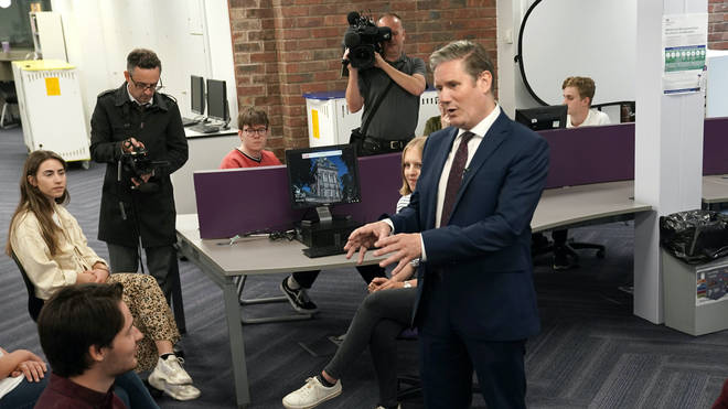 Keir Starmer has been speaking to students at Queen Elizabeth Sixth Form College