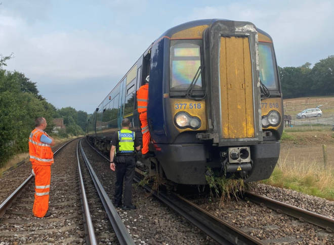 British Transport Police evacuated a train in Kent on Thursday
