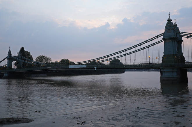 Hammersmith Bridge in west London, which has been been closed with little warning on Thursday 13th August