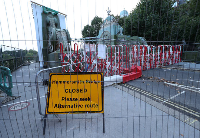 The 133-year-old bridge, in west London, was closed to traffic last April