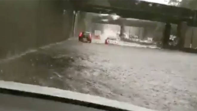 Flooding closed parts of the M25 for several hours yesterday