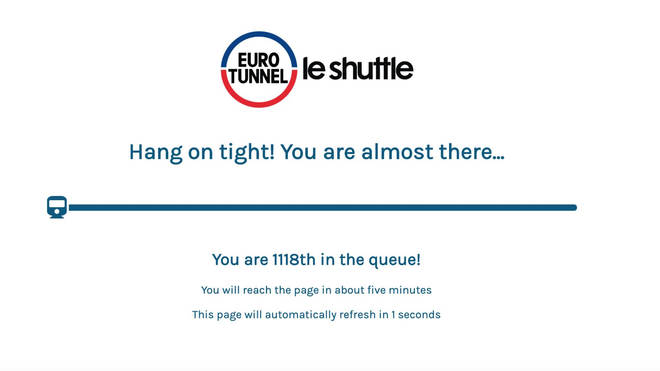 The Le Shuttle website has been inundated