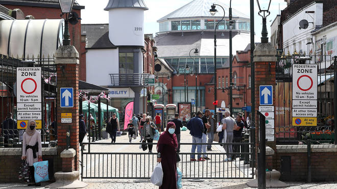 Oldham in Greater Manchester has seen a large spike in the number Covid-19 cases recently