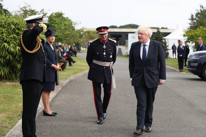 Boris Johnson attended the remembrance service