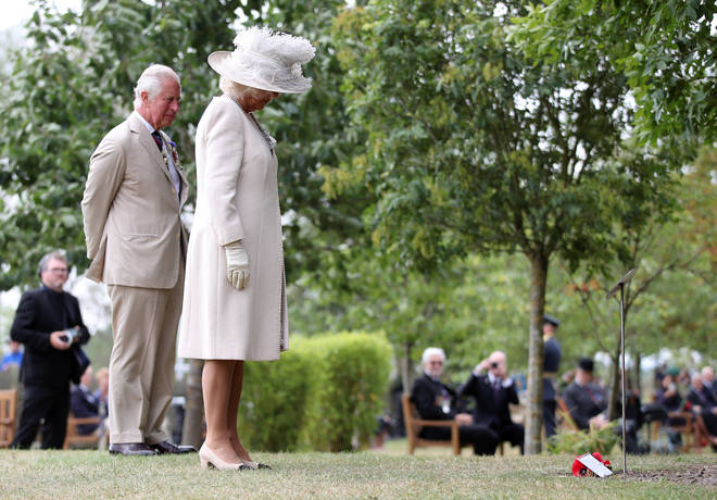 Charles and Camilla paid tribute to the fallen on VJ Day at 75