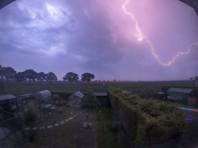 Lighting is set to strike large parts of southern England