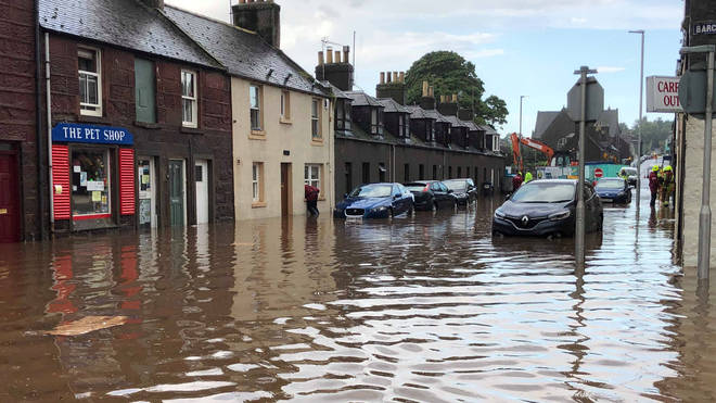 Scotland was hit with flooding earlier this week