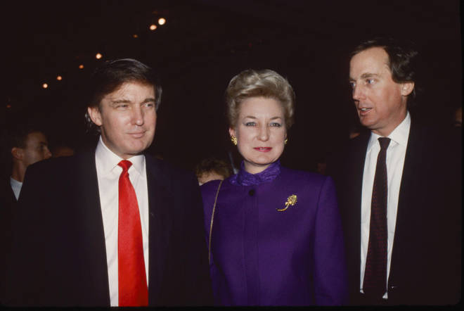 Donald Trump (L), Maryanne Trump Barry (M) and Robert Trump (R)