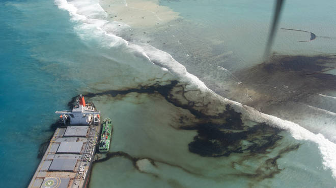 The ship has spilled tonnes of oil