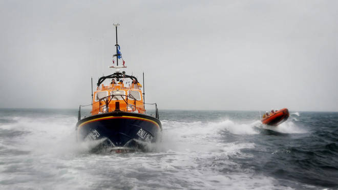 RNLI lifeboats joined the search (file pic)