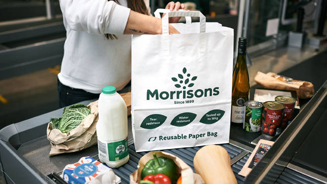 Morrisons is to sell reuseable paper bags instead of plastic