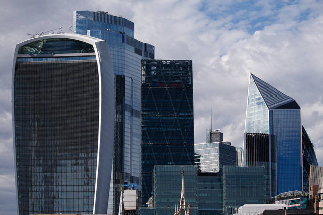 File photo: The commercial towers of the City of London financial district