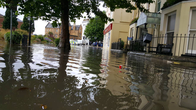 Barnstanple has been left under water following heavy floods