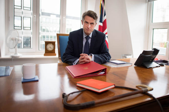 Secretary of State for Education Gavin Williamson in his office at the Department of Education in Westminster, London, following the announcement that A-level and GCSE results in England will now be based on teachers' assessments of their students