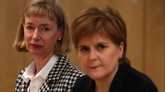 Leslie Evans was questioned by MSPs investigating the Scottish Government's handling of the harassment allegations