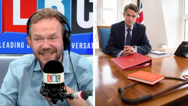 James O'Brien's caller had a query about why Gavin Williamson had a whip on his desk
