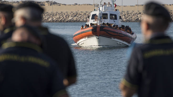 45 migrants have died in a shipwreck off of Libya (file image)