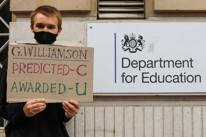 The exam results fiasco caused students to take to London's streets to protest