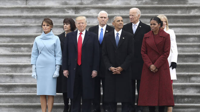 The former and current First Couple pictured at Trump's inauguaration