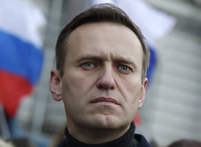 File photo: Russian opposition activist Alexei Navalny takes part in a march in memory of opposition leader Boris Nemtsov
