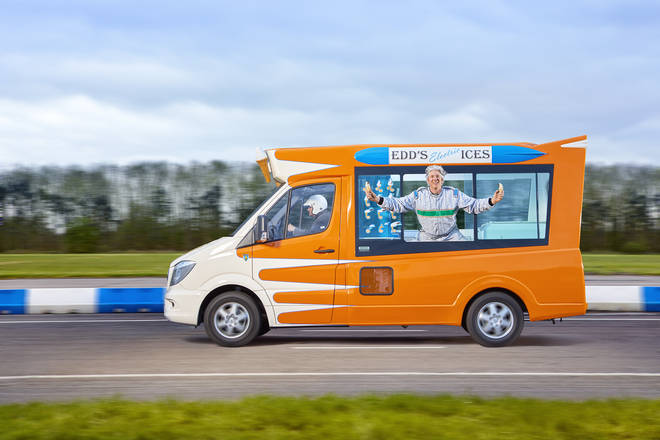 Edd China has broken the Guinness World Record title for the Fastest electric ice cream van