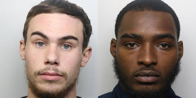 Alex Lanning (L) and Jonathan Camille (R) have been sentenced over Tashan Daniel's death
