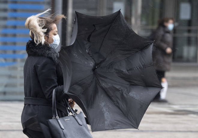 Brits are set to be battered by strong winds as forecasters warn of disruption