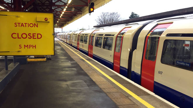 A strike on the Piccadilly Line