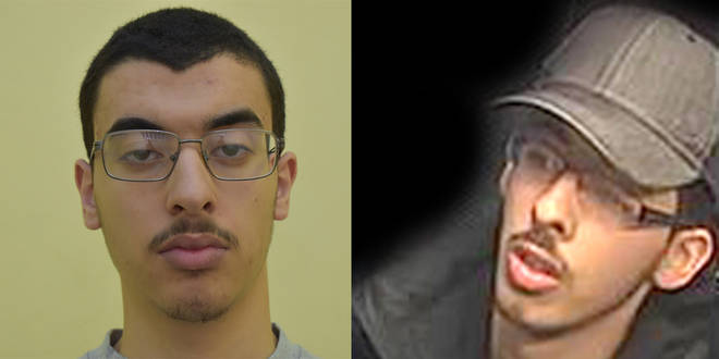 Ismail Abedi has apologised for the pain caused by his brothers Hashem (L) and Salman (R)