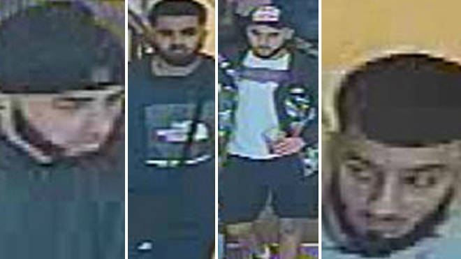 Police have issued CCTV of four men they want to speak to