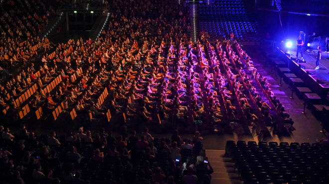 German scientists staged a mass concert to study the spread of the virus