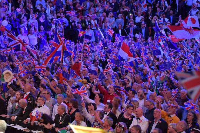 The annual classical music event usually finishes with the British anthems